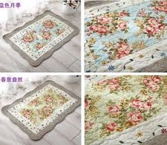 Shabby Chic Bathroom Rugs Country Shabby Chic Cottage Floral Blue Quilted Floor Door