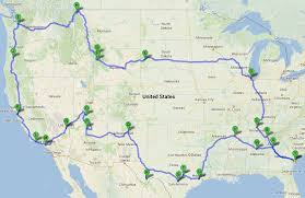 map your usa road trip road travel map major tourist attractions maps