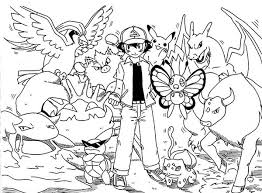 picture of ash ketchum on pokemon coloring page picture of ash