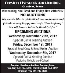 creston livestock auction inc november 29 auctions agupdate