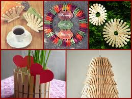 homemade home decor crafts 20 recycled clothespins ideas simple room decor https youtu