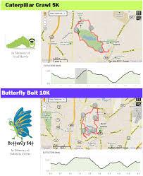 Atlanta Marta Map Caterpillar Crawl 5k Butterfly Bolt 10k