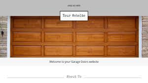 Design Your Garage Door Garage Doors Website Templates Godaddy