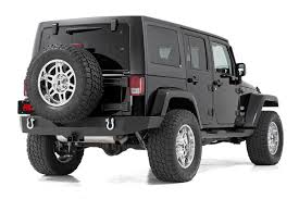 black chrome jeep full width black rear bumper for 07 17 jeep wrangler jk 10502