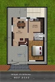 Home Design For 20x50 Plot Size House Plans 100 Sq Ft