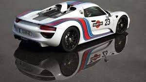 martini livery bmw porsche 918 spyder spied in martini racing livery video