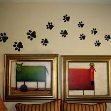 Art Decor Home by Aliexpress Com Buy Paw Print Wall Stickers 20 Walking Paw Prints