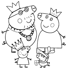 peppa pig family coloring pages coloring