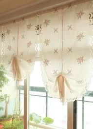 Pull Up Curtains Climbing Pull Up Valance Shabby Chic Curtain
