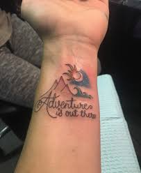 tattoo mountain waves adventure is out there my tattoo i love
