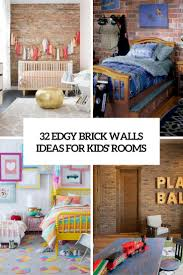 kid bedroom designs archives digsdigs 32 edgy brick walls ideas for kids rooms