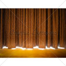 Curtains On A Stage Gold Curtains On A Stage Gl Stock Images