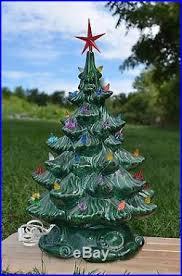 vintage ceramic christmas tree vintage 18 lighted plaster ceramic christmas tree table top atlantic