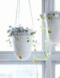 pretty hanging lace planters garden pinterest planters