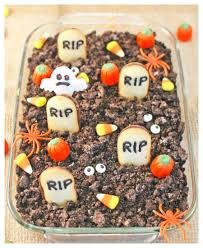 halloween graveyard cheesecake dip saving cent by cent