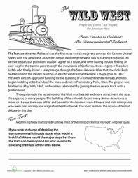 transcontinental railroad history railroad history worksheets