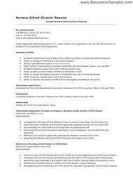 nursery director resume teacher resume sample page 1
