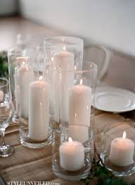 166 best centerpieces candles images on pinterest marriage