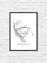Map Nyc Subway New York City New York Metro Map Nyc Subway Map Transit