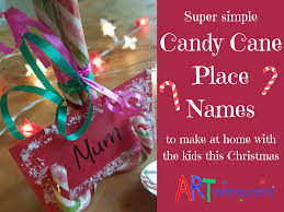 christmas candy cane place name settings artventurers