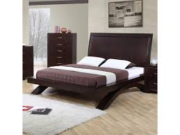 Contemporary Platform Bed Elements International King Contemporary Platform Bed