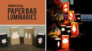 how to make paper bag luminaries easy halloween u0026 fall