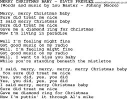 merry baby by elvis lyrics