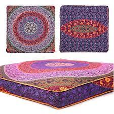 amazon com third eye export indian mandala floor pillow square