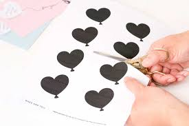 printable scratch off heart balloon card u2013 make and tell
