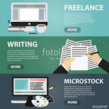 digital drawing website set of vector flat horizontal banners of freelance writing and