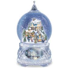 amazon com thomas kinkade snowglobe with crystal base lights