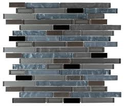Sample Rustic Copper Linear Natural by Modern Glass Mosaic Tile Linear Copper Mineral Tiles