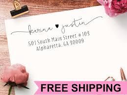 return address st self ink custom address st wedding
