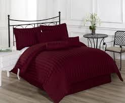 100 Cotton Queen Comforter Sets Royal Calico Burgundy 7pc Comforter Set Damask Stripe 100 Cotton