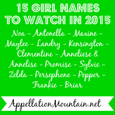 mean names baby name predictions 2015 appellation mountain