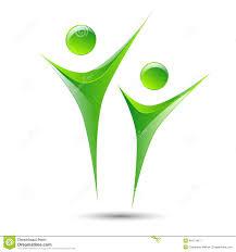 abstract human figures vector logo template stock vector image