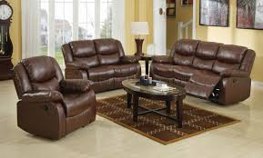 Modern Reclining Leather Sofa Brown Bonded Leather Match Modern Reclining Sofa Loveseat Set
