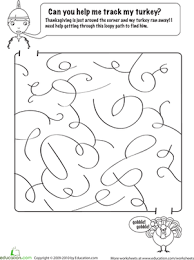 thanksgiving day maze worksheet education