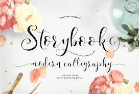 storybook calligraphy script by emily spadoni thehungryjpeg com