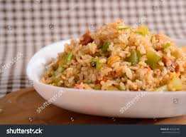 id cuisine simple simple fried rice one cantonese stock photo 423025786