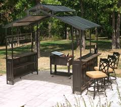 Gazebos For Patios New Large Steel Frame Grill Gazebo Outdoor Bar Vented Top