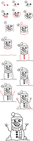 how to draw a snowman art for kids hub
