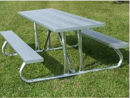 Commercial Picnic Tables by Commercial Aluminum Picnic Table At Builtrite Bleachers