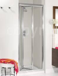 Bifold Shower Door Supreme Silver Framed 600mm Plus Bifold Shower Door