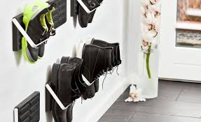 Ideas For Shoe Storage In Entryway Creative Modern Wall Mounted Shoe Rack Storage Ideas