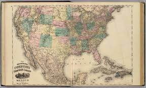 Atlas Map Of The United States by New Railroad Map Of The United States Canada Mexico And The