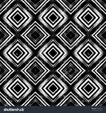 vintage checked seamless pattern with brushed lines in black and