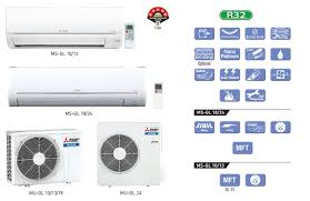 mitsubishi ms gl24vf ms gl split 2 tr 5 air conditioner prices