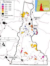 Oregon Forest Fires Map by Fire History Forests People Fire Interactions Dynamics And