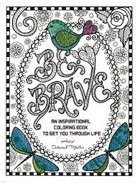 brave coloring book inspirational messages